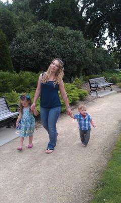 Em with kids